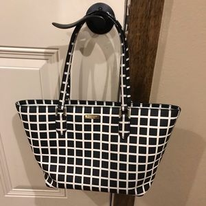 Kate Spade Purse Black and White Checker
